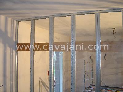 Carrelage moderne faience listel escalier - Pose porte coulissante dans cloison placo ...